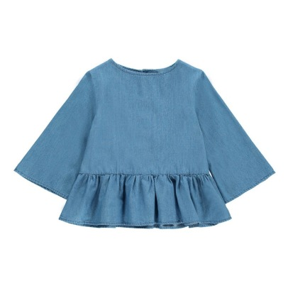 Hundred Pieces Blusa Manga Larga Chambray-listing