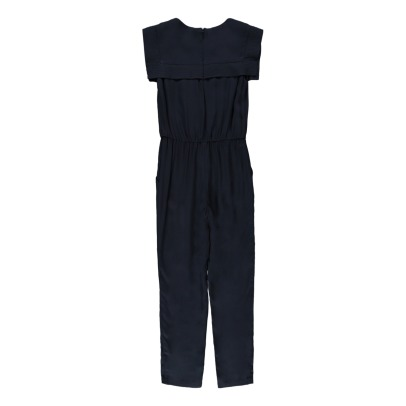 Chloé Overstitched Sailor Collar Jumpsuit-listing