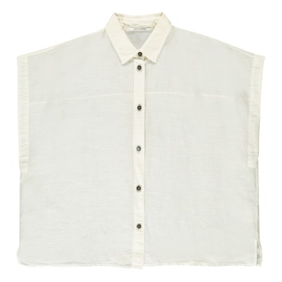 Pomandère Cotton and Linen Short Sleeve Shirt-listing