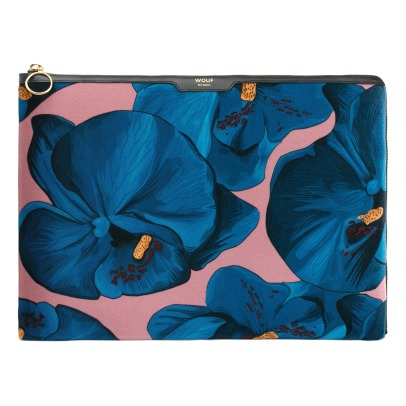"Wouf Laptoptasche 13"" aus Velours Orchidee-listing"