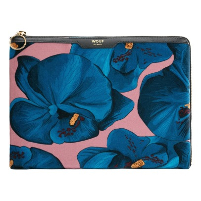 Wouf iPad-Tasche aus Velours Orchidee-listing