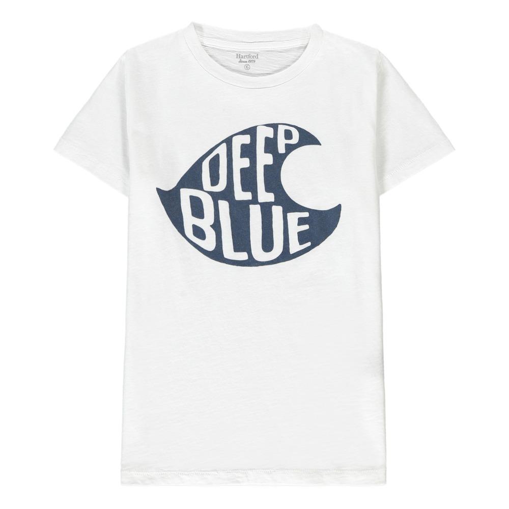 Printed Slub Cotton-jersey T-shirt - WhiteHartford Prix Incroyable Vente En Ligne vepmT