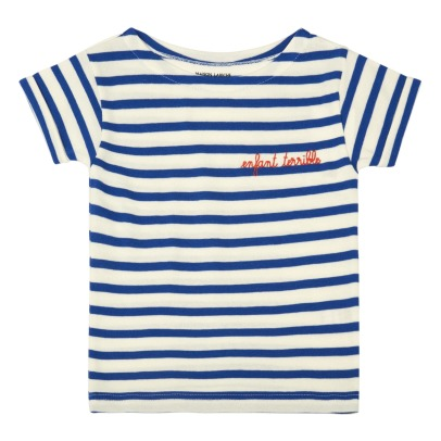 Maison Labiche T-shirt a righe con ricamo Enfant Terrible-listing