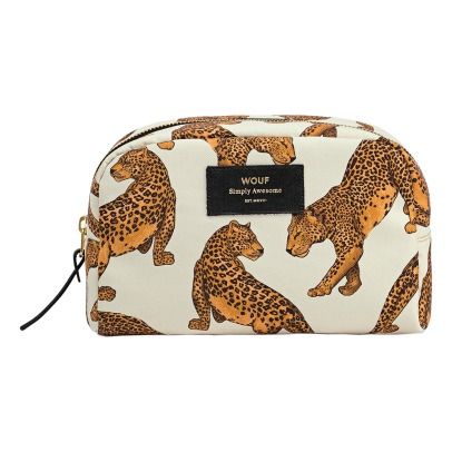 Wouf Leopard Canvas Toiletry Bag-listing