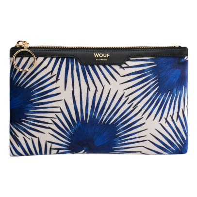 Wouf Palm Leavers Velvet Pouch-listing