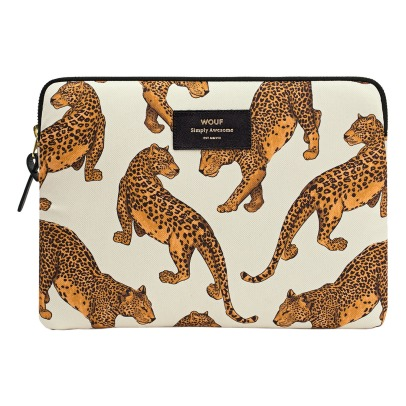 Wouf Leopard Canvas iPad Pouch-listing