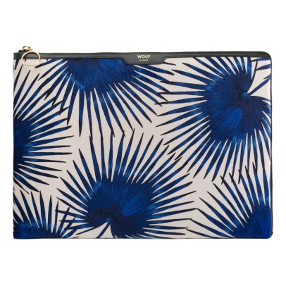 "Wouf Palm Leaves Velvet 13"" Computer Pouch-listing"