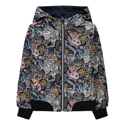 Little Marc Jacobs Cortavientos impermeable reversible Graffiti Punk-listing