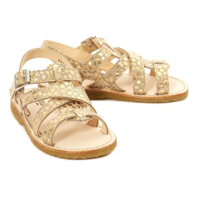 Angulus Mosaiques Multi Bride Leather Buckled Sandals-listing