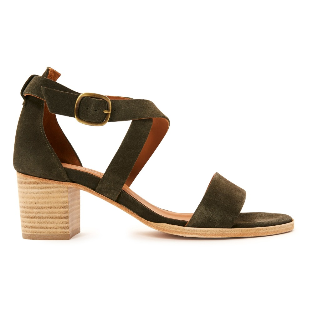 Sale - Antigone Crossed Leather Heeled Sandals - Anthology Paris Anthology Paris ThGcc