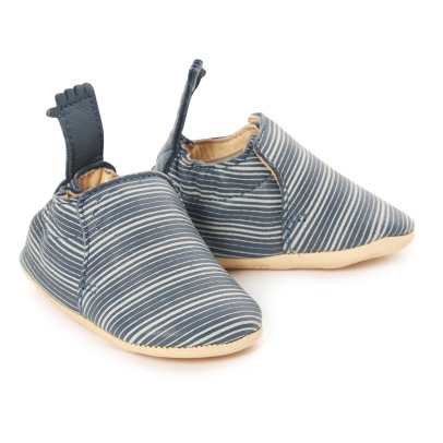 Easy Peasy Linéa Blumoo Striped Moos Slippers-listing