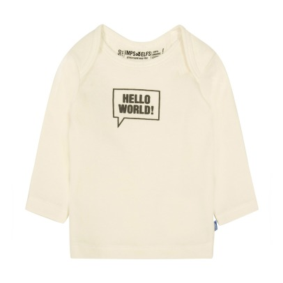 "Imps & Elfs T-shirt ""Hello World"" in cotone bio -listing"
