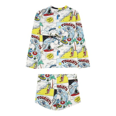 Stella McCartney Kids Boppers Cartoon UV Protective T-Shirt + Trunks-listing