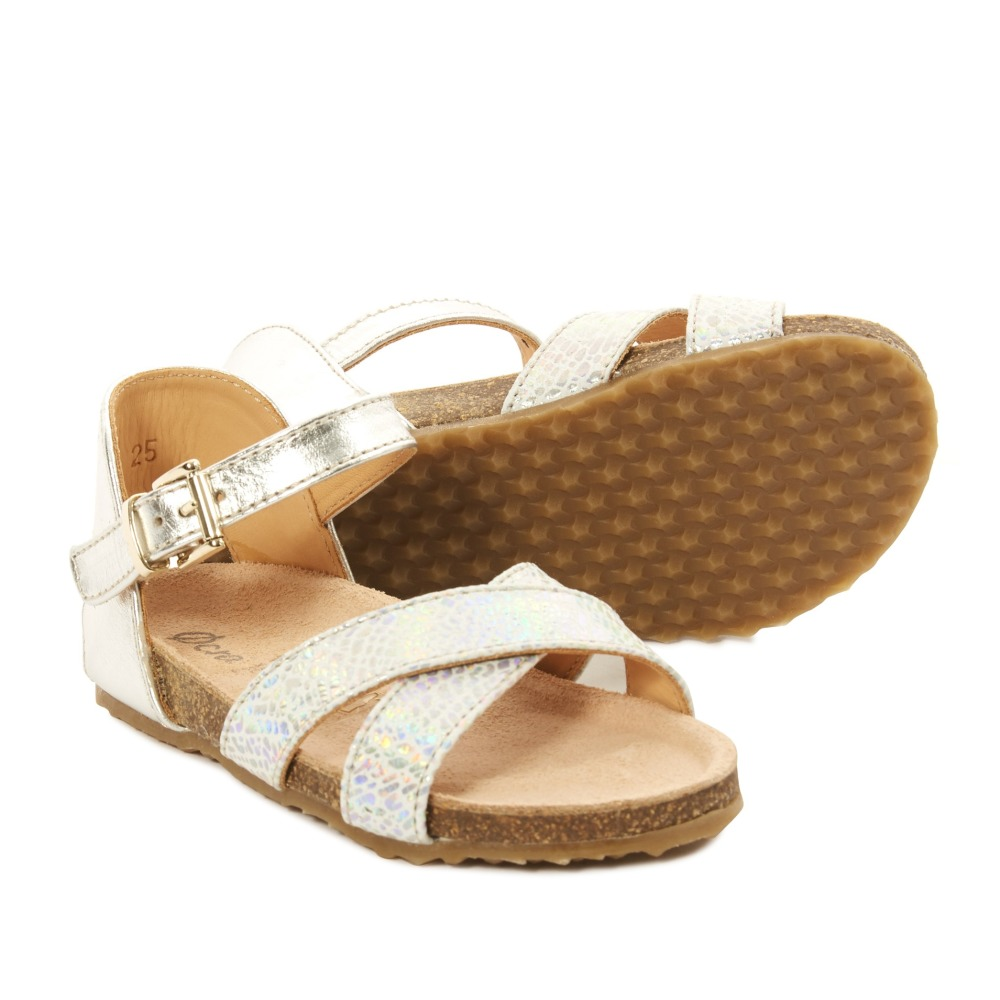 Sale - Balthazar Laminated Leather Sandals with Buckle - Ocra Ocra BSIik0tjqJ