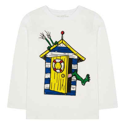 Stella McCartney Kids T-shirt mostro in cotone bio Barley -listing