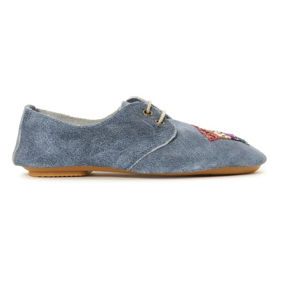 Anniel Glitter Rainbow Suede Loafers-listing