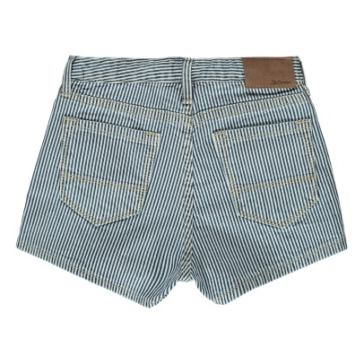 Bellerose Petite81 Striped Denim Shorts-listing