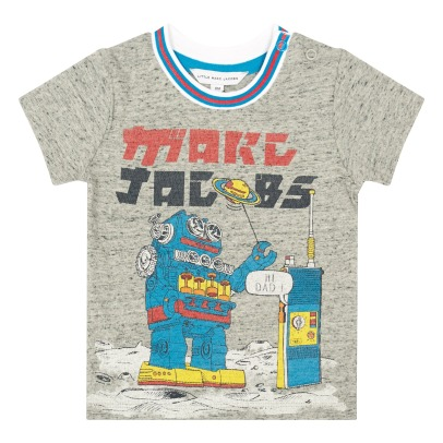 Little Marc Jacobs Hi Dad Robot T-Shirt-listing