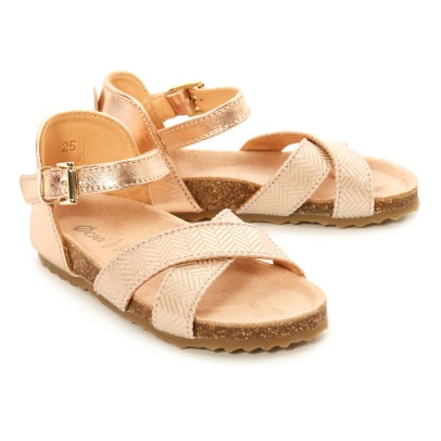 Ocra Osis Metallic Leather Buckled Sandals-listing