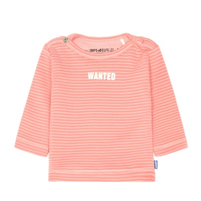Imps & Elfs Wanted Striped Organic Cotton T-Shirt-listing