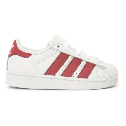 Adidas Superstar Iridescent Lace-Up Leather Trainers-listing