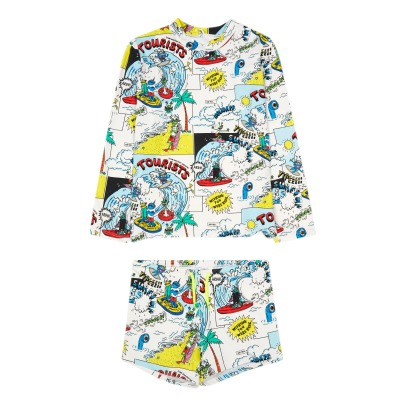 Stella McCartney Kids T-shirt + shorts anti-UV stampa fumetti Boppers -listing