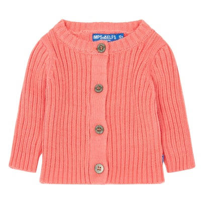 Imps & Elfs Ribbed Organic Cotton Cardigan-listing
