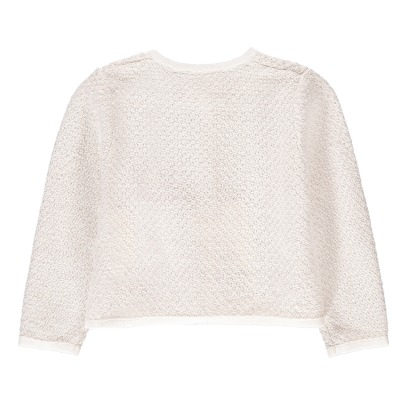 CARREMENT BEAU Lurex Cotton Cardigan-listing
