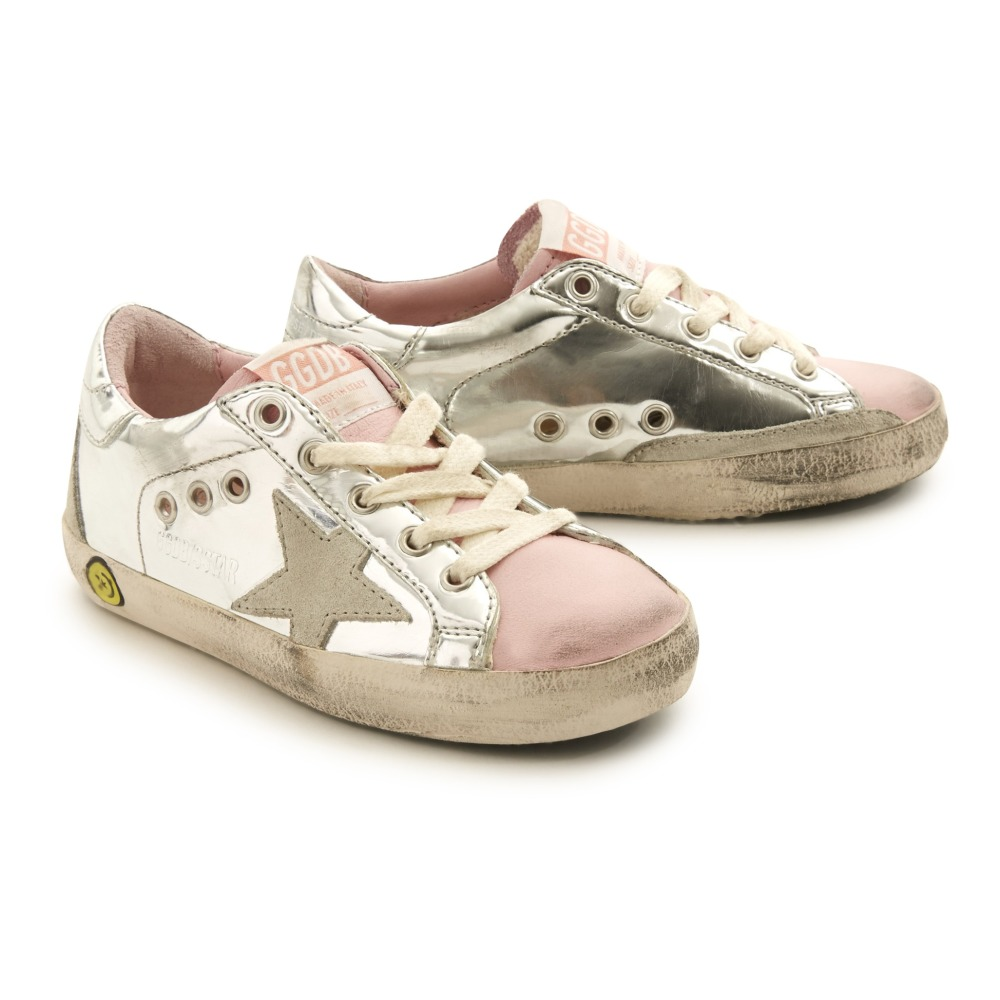 Superstar Pink Mirror Toe Leather Low Top Trainers Golden Goose euYAyYgIOA