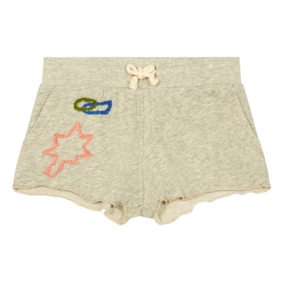 Bellerose Biz Embroidered Fleece Shorts-product