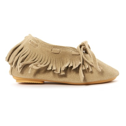 Anniel Fringed Glitter Suede Ankle Boots-listing