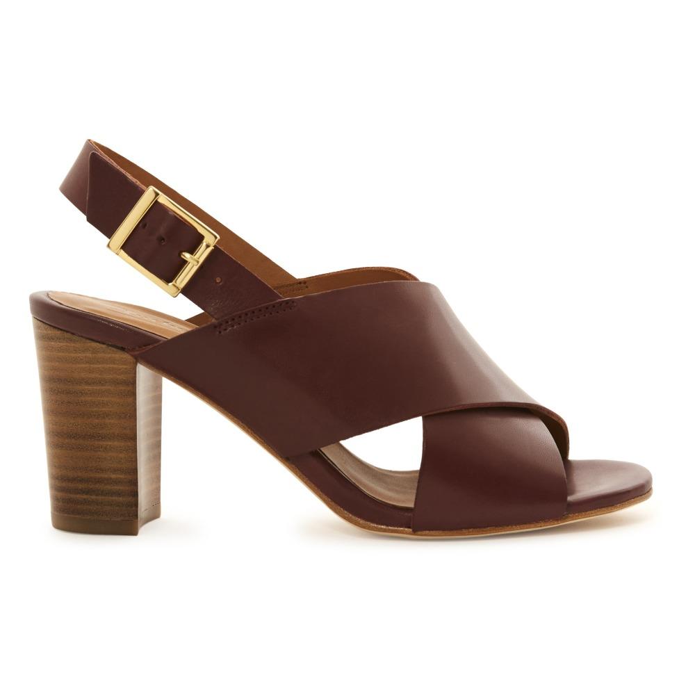 Sale - Antigone Crossed Leather Heeled Sandals - Anthology Paris Anthology Paris eQC4fQ7UIb