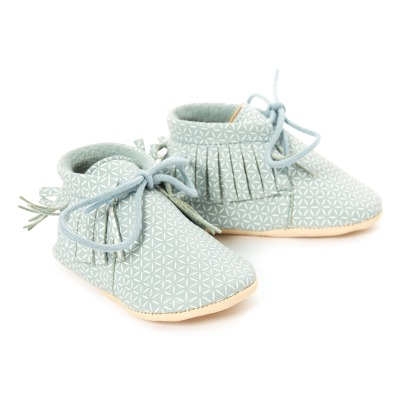 Easy Peasy Babyschuhe Moos mit Franzen Meximoo -listing