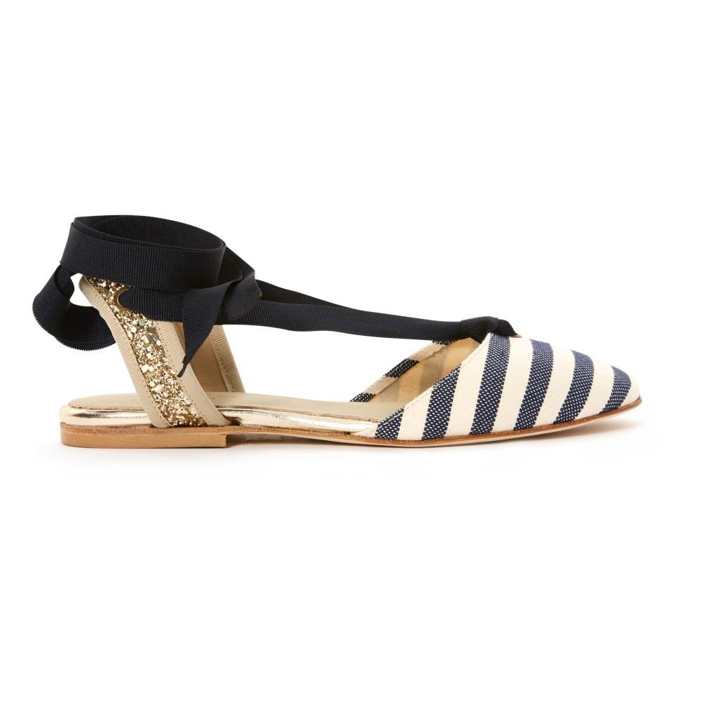 Sale - Leopard Lace-Up Flat Sandals - Anniel Anniel wXjD53OoNR