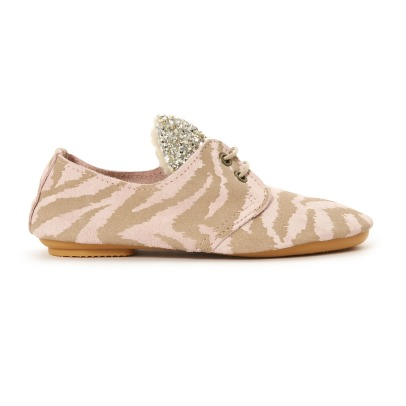 Anniel Glitter Zebra Ear Suede Loafers-listing