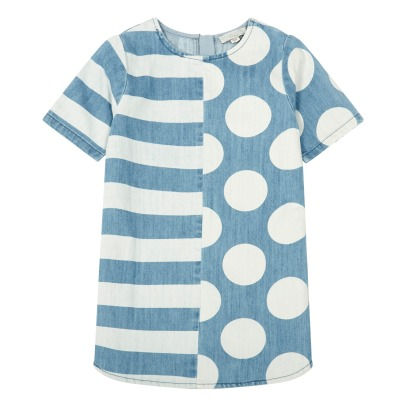 Stella McCartney Kids Abito a righe e pois Bess -listing