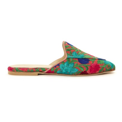 Anniel FLower Embroidered Mules-listing