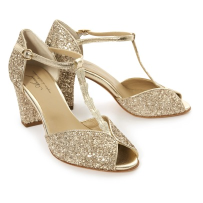 Anniel Glitter and Heart T-Bar Heels-listing