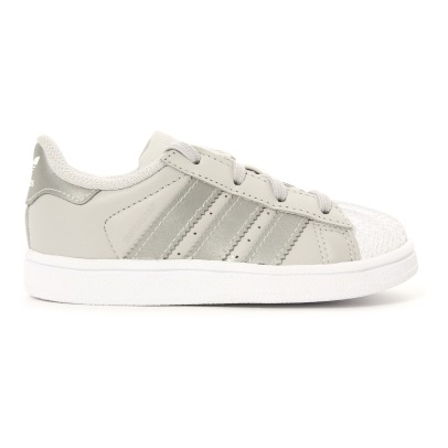 Adidas Superstar Lace-Up Leather Trainers-listing