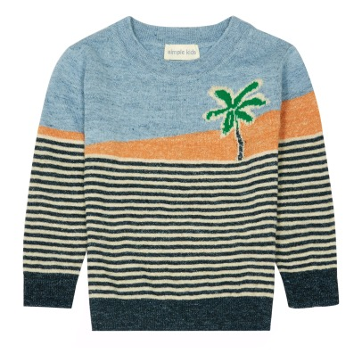 Simple Kids Palm Striped Jumper-listing
