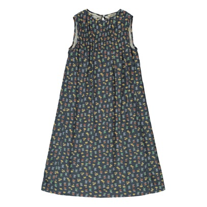 Bellerose Lydie Gathered Top Printed Dress-listing
