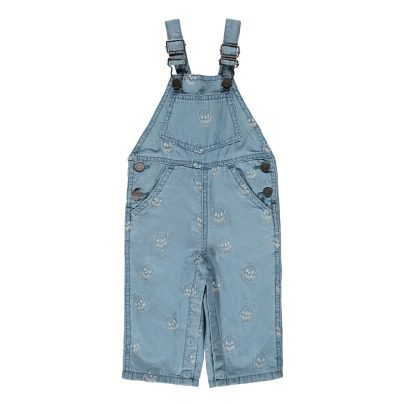 Stella McCartney Kids Buzzby Embroidered Skull Chambray Dungarees-listing