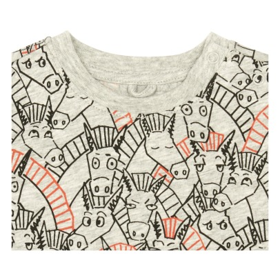 Stella McCartney Kids Chuckle Donkey Organic Cotton T-Shirt-listing
