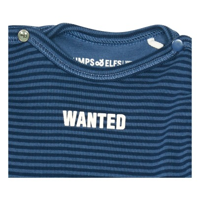 "Imps & Elfs T-shirt ""Wanted"" in cotone bio a righe -listing"