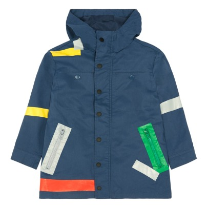 Stella McCartney Kids Liam Coloured Band Waterproof Windbreaker-listing