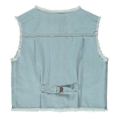 Bellerose Pastel81 Frayed Sleeveless Denim Jacket-listing