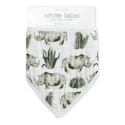 Aden + Anais White Label Serengeti Cotton Muslin Bib-listing