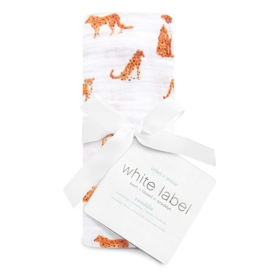 Aden + Anais White Label Serengeti Cotton Muslin Swaddle-listing
