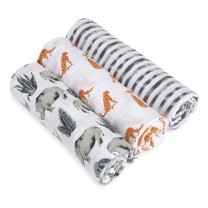 Aden + Anais White Label Langes-plaids Serengeti - Set de 3-listing