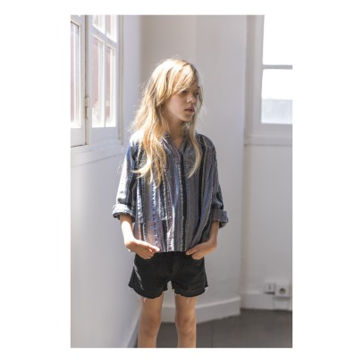 Finger in the nose Nova Frayed Denim Mini Shorts-listing
